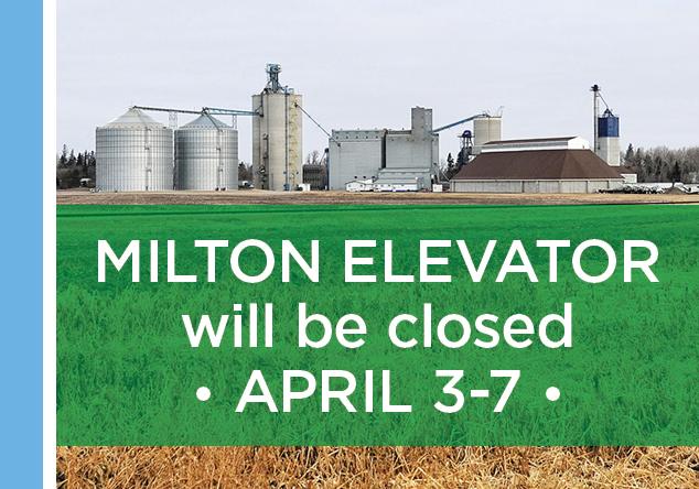 Milton Elevator closed April 3-7